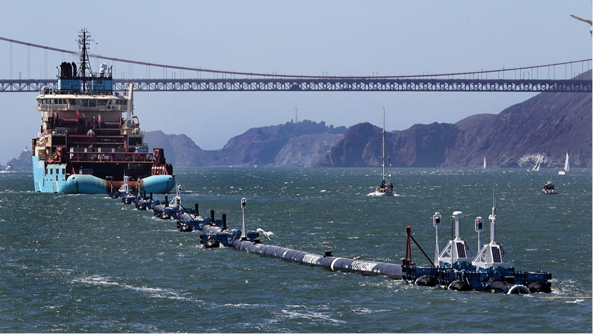 Ocean Cleanup Finally Picking Up Trash.
