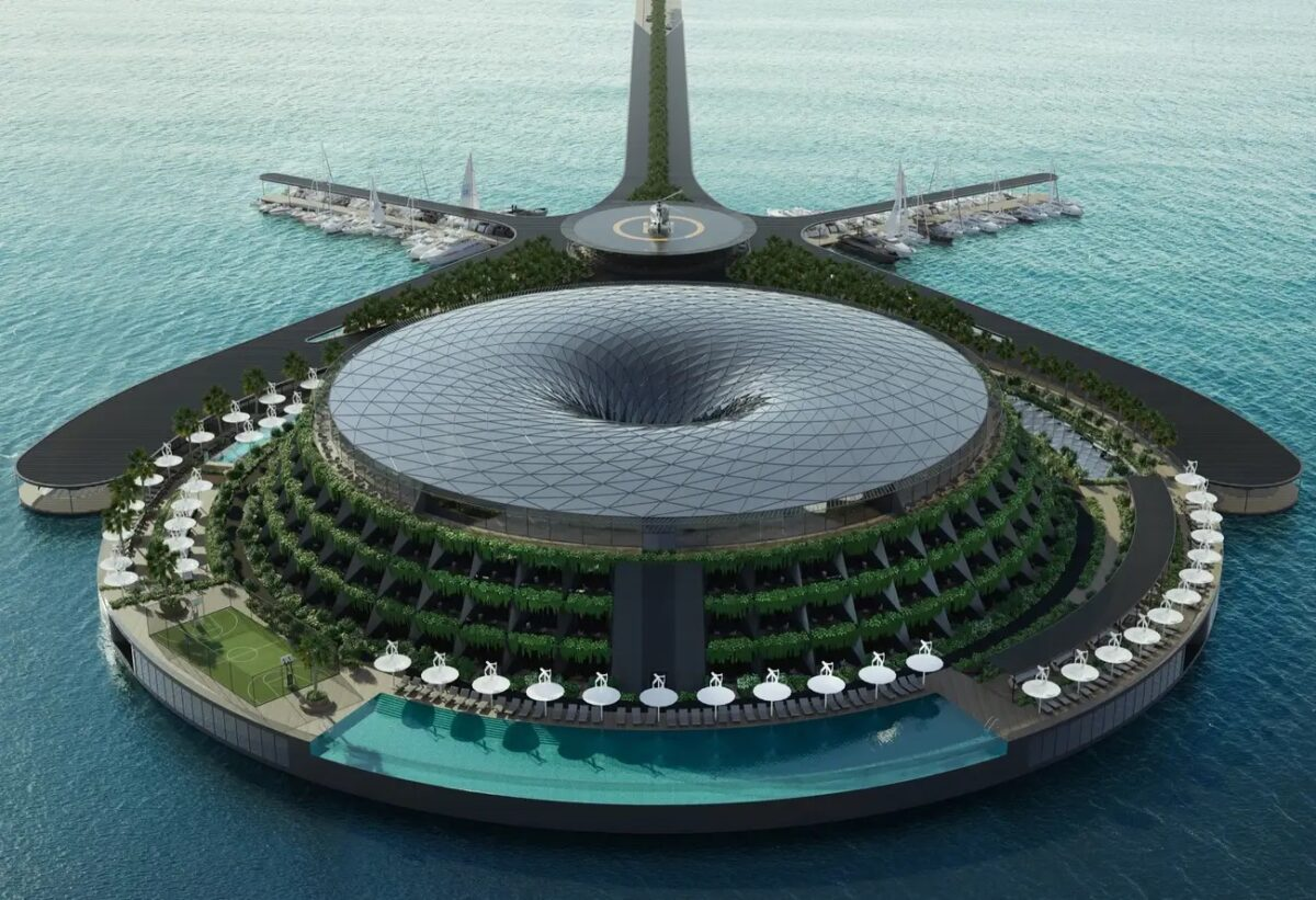 Eco-Friendly Floating Hotel to  be Built in 2025.
